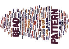 Bead Patterns Word Cloud Concept Royalty Free Stock Photos