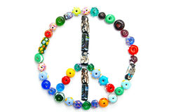 Bead peace Royalty Free Stock Photo