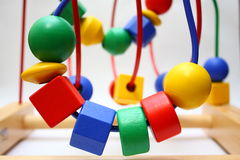 Bead Roller Coaster Toys Royalty Free Stock Photo