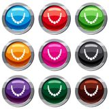 Bead set 9 collection Royalty Free Stock Photography