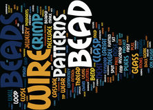 Bead Shop Word Cloud Concept Stock Photography
