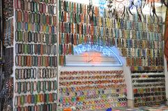 Beads and bangle shop stock images