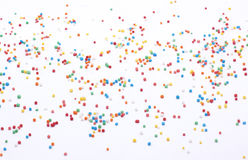 Bead Sprinkles on white background wide angle. Bead Sprinkles scattered on white background, can be use as background or add-on royalty free stock photos