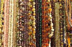 Bead with stones and amber stock image