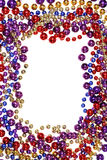 Bead string border Royalty Free Stock Images