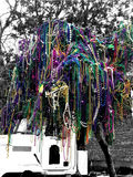 New Orleans Mardi Gras Bead Tree Royalty Free Stock Photos