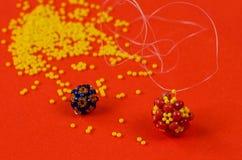 Bead Weaving. Stock Photos