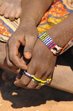 Bead work in tanzania Royalty Free Stock Images