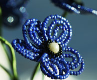 Beaded. Beautiful beaded flower close up stock images