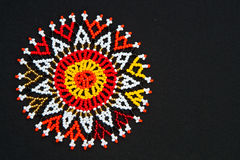 Beaded African design Royalty Free Stock Photos