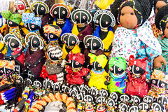 Beaded African Dolls Royalty Free Stock Photo