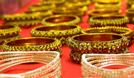 Beaded Bangles for sale in Indian Fashion store Royalty Free Stock Image