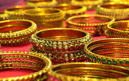 Beaded Bangles for sale in Indian Fashion store Stock Photos