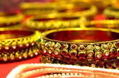 Beaded Bangles for sale in Indian Fashion store Stock Photo