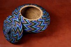 Beaded Basket. North West Coast Beaded Indian Basket stock photography