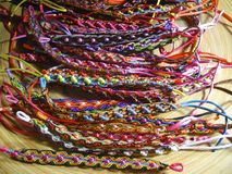 Beaded Bracelets at the Fair Stock Image