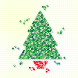 Beaded Christmas tree Royalty Free Stock Photo