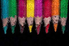 Beaded, Colour Pencils Royalty Free Stock Photos