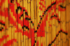 Beaded curtain. Curtain made of bamboo Stock Photos