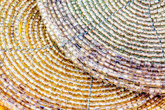 Beaded drink coasters Royalty Free Stock Images