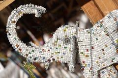 Beaded Elephant. A beaded elephant for decoration stock photography