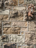 Beaded grout joints. Stone wall with extruded beaded grout joints Royalty Free Stock Image