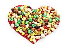 Beaded heart Royalty Free Stock Photos
