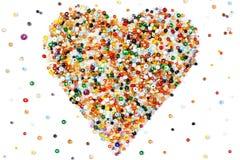 Beaded heart Royalty Free Stock Image