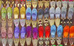Beaded Indian shoes Stock Images