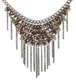 Beaded necklace. Isolated on white Stock Image