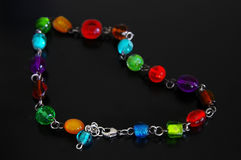 Beaded necklace Royalty Free Stock Images