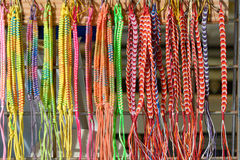 Beaded necklaces for sale at market stall Stock Photo