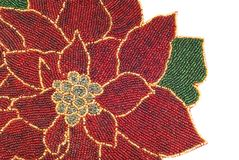 Beaded Poinsettia Background Royalty Free Stock Photography