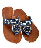 Beaded sandal Royalty Free Stock Photo