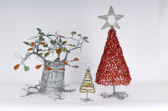 Beaded trees Royalty Free Stock Image