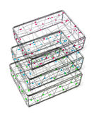 Beaded Wire Boxes Stock Photo