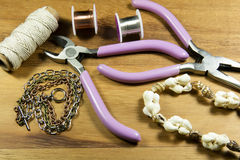 Beading and Craft Tools Royalty Free Stock Images
