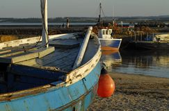 Beadnell harbor at sunset Royalty Free Stock Photography