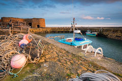 Beadnell Harbour Fishing Gear Royalty Free Stock Image