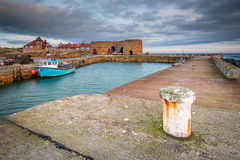 Beadnell Harbour and Lime Kilns Stock Photography