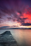 Beadnell Harbour Pier And Bay Royalty Free Stock Image