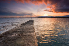 Beadnell Harbour South Pier Stock Image