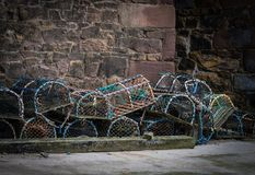 Beadnell Lobster Pots Royalty Free Stock Photos