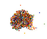 A in beads Stock Photography