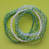Beads. A group of green bracelets Royalty Free Stock Photo