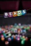 Beads. On a necklace, arts and crafts Stock Photo