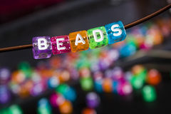 Beads. On a bracelet, arts and crafts Stock Images