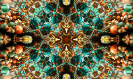 Beads. Native American Styled Abstract Cross Background Royalty Free Stock Photos