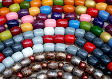 Beads. Some beads exposed on market ready for selling Stock Image