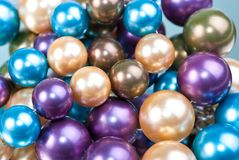 Beads. A rexture from multicolor necklaces Royalty Free Stock Photos